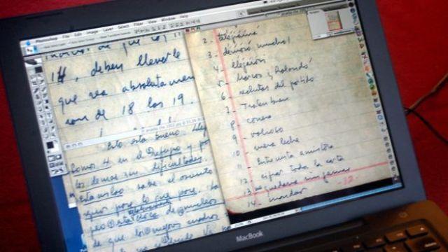 Imágenes del diario del Che