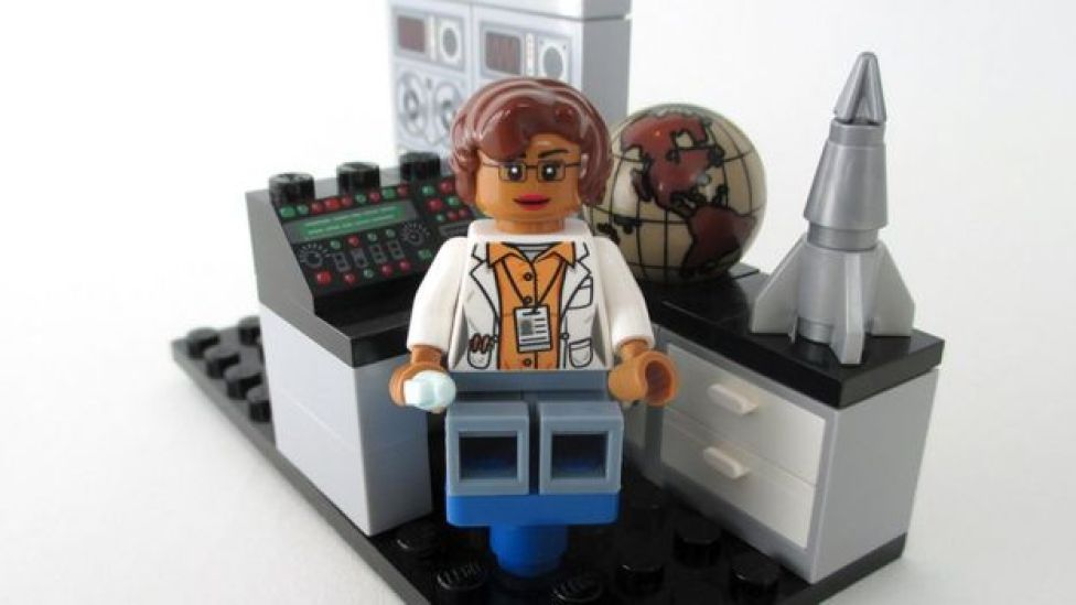 Mathematician and space scientist Katherine Johnson in Lego