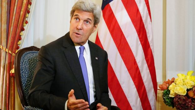 US Secretary of State John Kerry in New York on 19 September