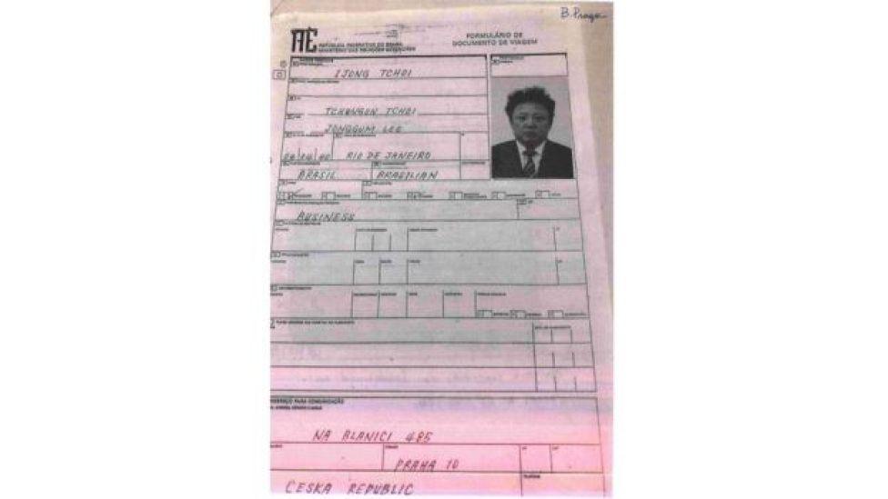 Formulário de viagem em nome de Ijong Tchoi fornecido pelo MRE via Lei de Acesos à Informação