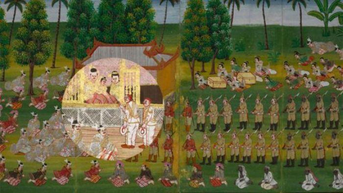 Pintura da queda de Thibaw