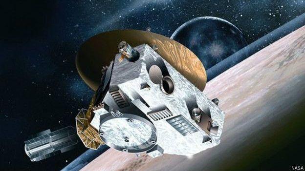 Imagen de New Horizons en el espacio.