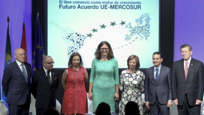 Conferência sobre acordo de comércio UE-Mercosul em Madri, 3 de julho de 2017