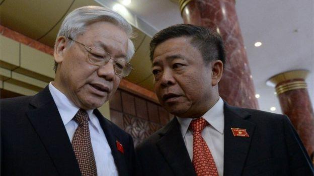 Ông Võ Kim Cự và TBT Nguyễn Phú Trọng