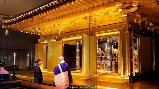 The Golden Hall is the only Hiraizumi structure that still resembles what it once was