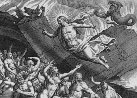 A 16th-Century engraving by Adrian Collaert depicts the Last Judgement