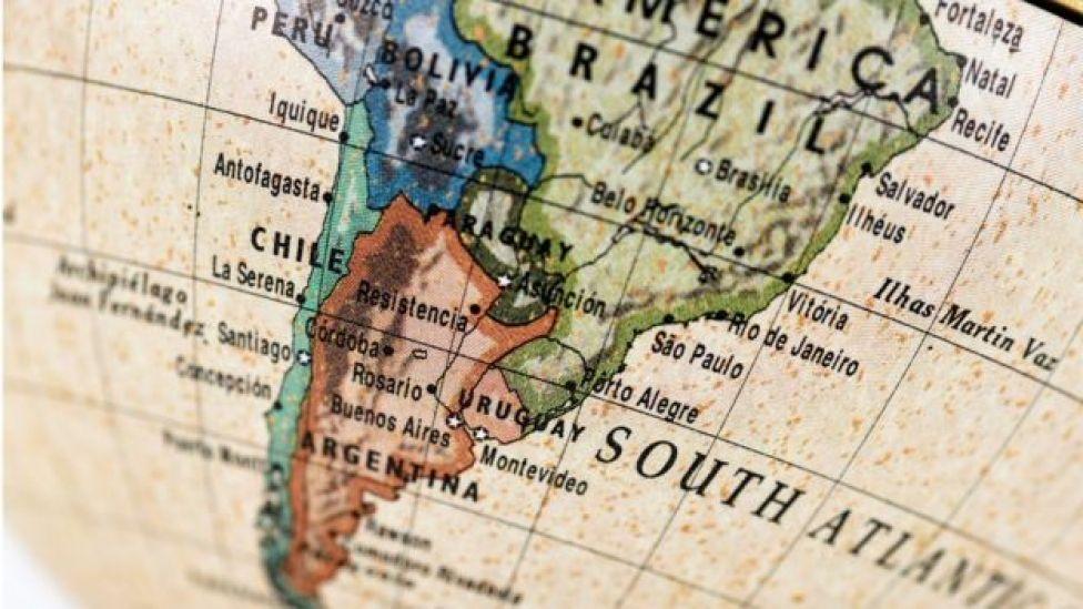 Mapa del Cono Sur.