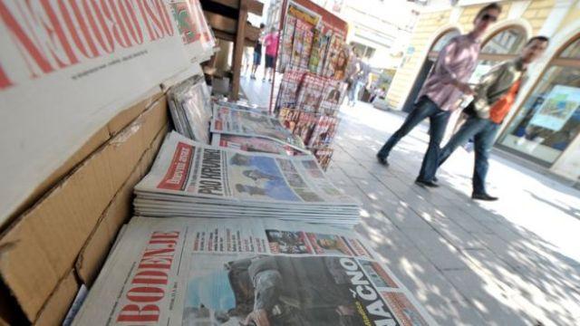 Newspaper stand in Sarajevo
