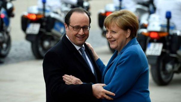 François Hollande y Ángela Merkel