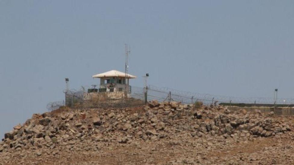 برج دیدهبانی سازمان ملل در منطقه قنیطره، منطقه حائل در بلندیهای جولان