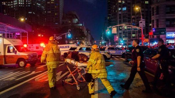 Bomberos y policías de Nueva York.