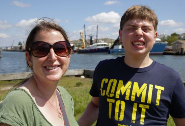 Amy and her autistic son Jonah, now 17
