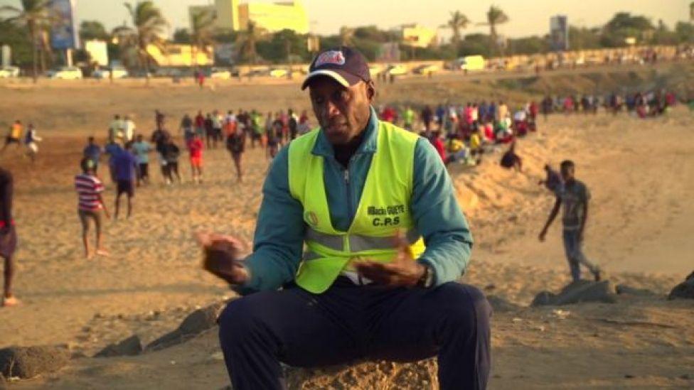 Mbacké Gueye est le moniteur du parcours sportif qui entraîne les Sénégalais depuis 30 ans