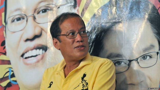 Philippines President Benigno Aquino pictured north of Manila on May 11, 2010