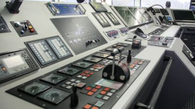 Control room of ship