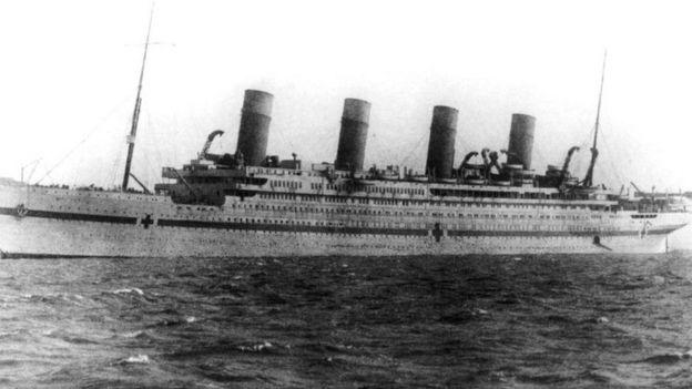 El naufragio del Britannic pasó casi sin pena sin gloria en tiempos de guerra.