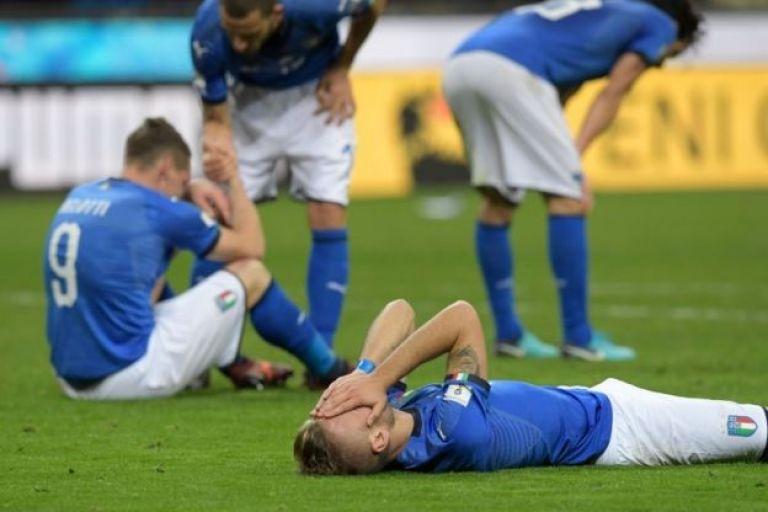 Jugadores de Italia se lamentan