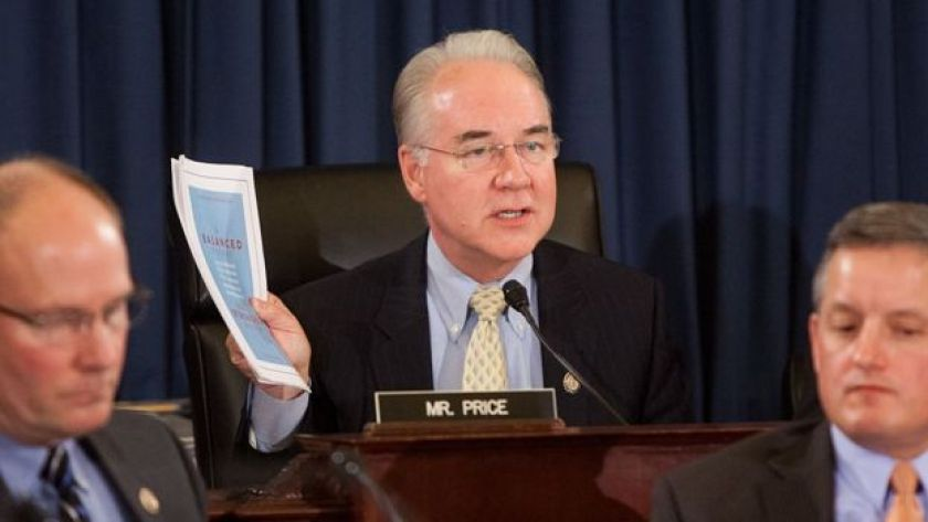 Congressman Tom Price presides over a House Budget Committee hearing.