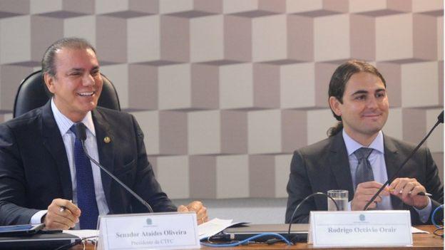 Senador Ataídes Oliveira e o economista Rodrigo Orair em audiência no Senado