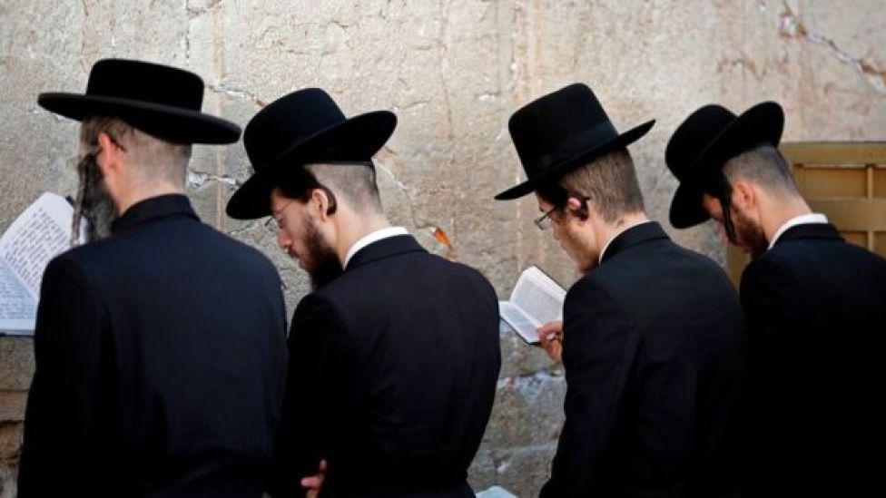 Judíos ortodoxos en Jerusalén.