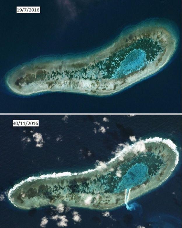 Đá Lát trước và sau ngày 30/11/2016 - hình chụp từ vệ tinh