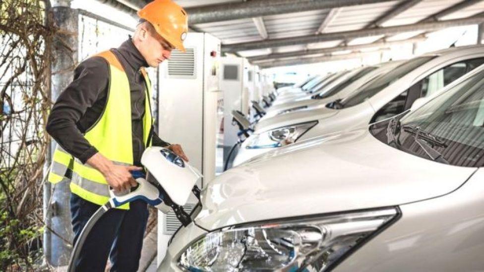 Nissan vehicle-to-grid hub in Denmark