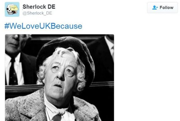 Tweet of photo of Margaret Rutherford
