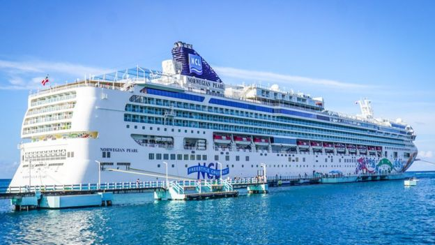 The Norwegian Pearl, which hosts the Kiss Kruises