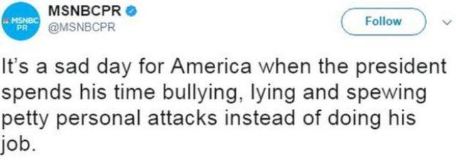 MSNBC Public Relations tweets: