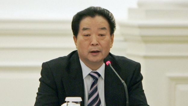 Qiao Xiaoyang attends a forum at the Government House in Hong Kong 29 December 2007