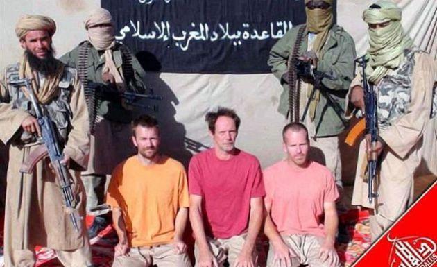Captura de pantalla de un video de al Qaeda en el que aparece Stephen McGown.