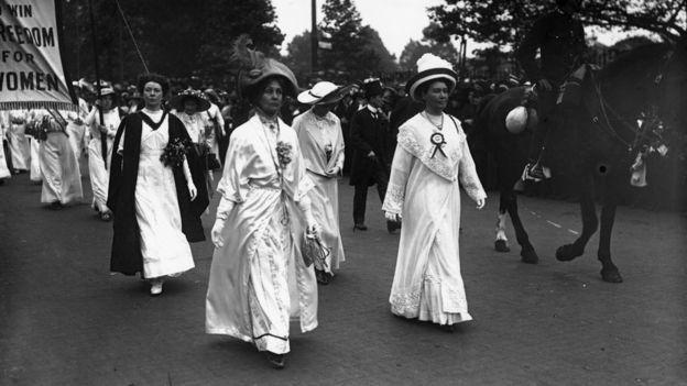 داعيات حركة (سفر جيت) لحقوق المساواة في أوائل القرن العشرين.