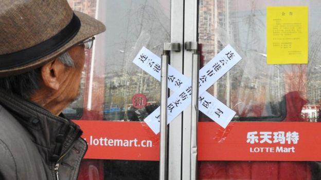 Khách hàng TQ được thông báo siêu thị Lotte bị đóng vì 'thiếu an toàn phòng cháy chữa cháy'