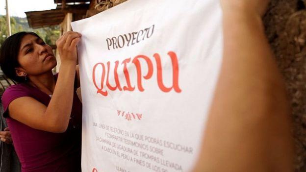 Cartel del poryecto Quipu
