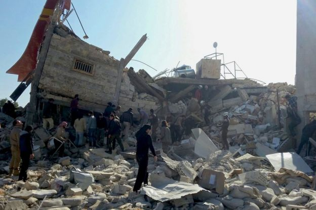 MSF-supported hospital in northern Syrian town of Maarat al-Numan destroyed in a missile strike on 15 February 2016