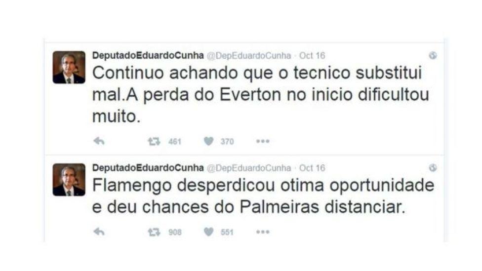 Twitter de Eduardo Cunha
