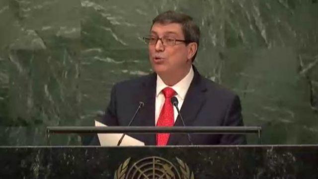Bruno Rodríguez en la ONU