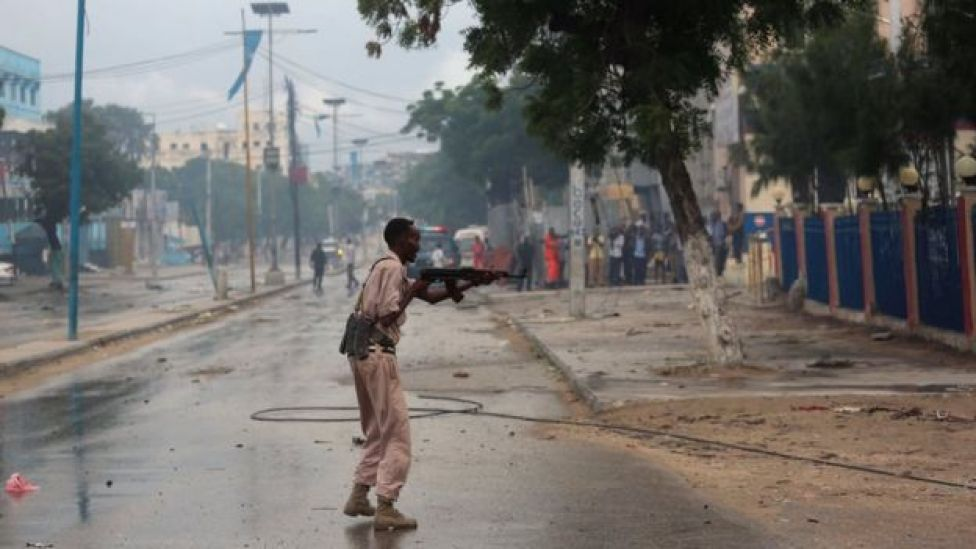 Gunfire erupted between Somali forces and the attackers    Photo:REUTERS