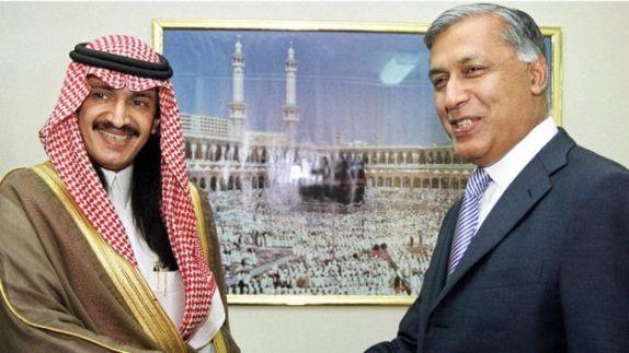 Dhaxal suge Turki bin Bandar oo la kulmaya wasiirka maaliyada ee Pakistann 2003
