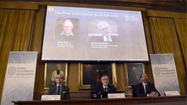 Anuncio del Nobel de Economía de 2016