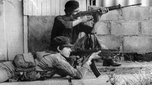 Guerrilleros sandinistas en junio de 1979