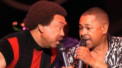 Maurice White (left) and Ralph Johnson of Earth Wind & Fire (file photo)