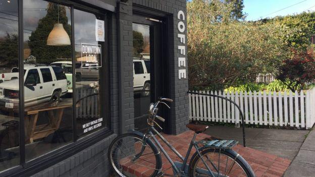 Café en Pescadero, California