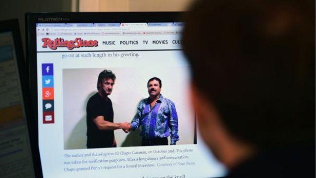 Imagen de la entrevista de Guzmán con 'Rolling Stone'