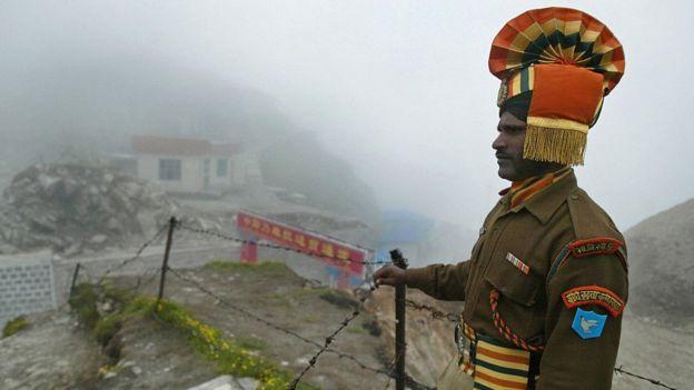Indian soldier along China border