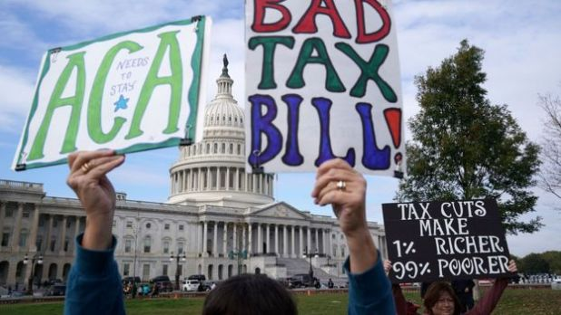 Dự luật thuế gây phản đối vì bị cho rằng lợi ích thuộc về công ty lớn và người giàu