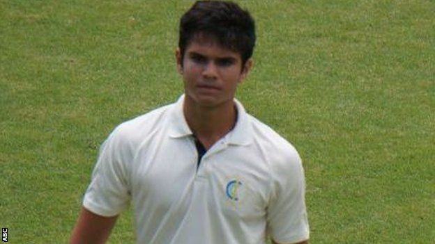 Arjun Tendulkar at the Bradman Oval