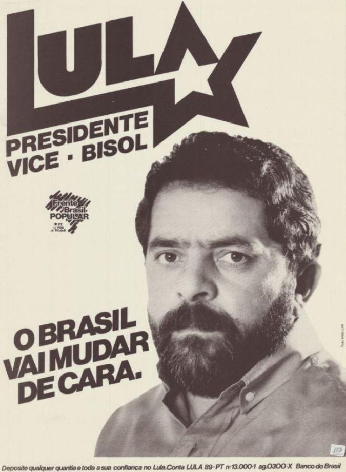 Cartaz de divulgação da eleição de 1989