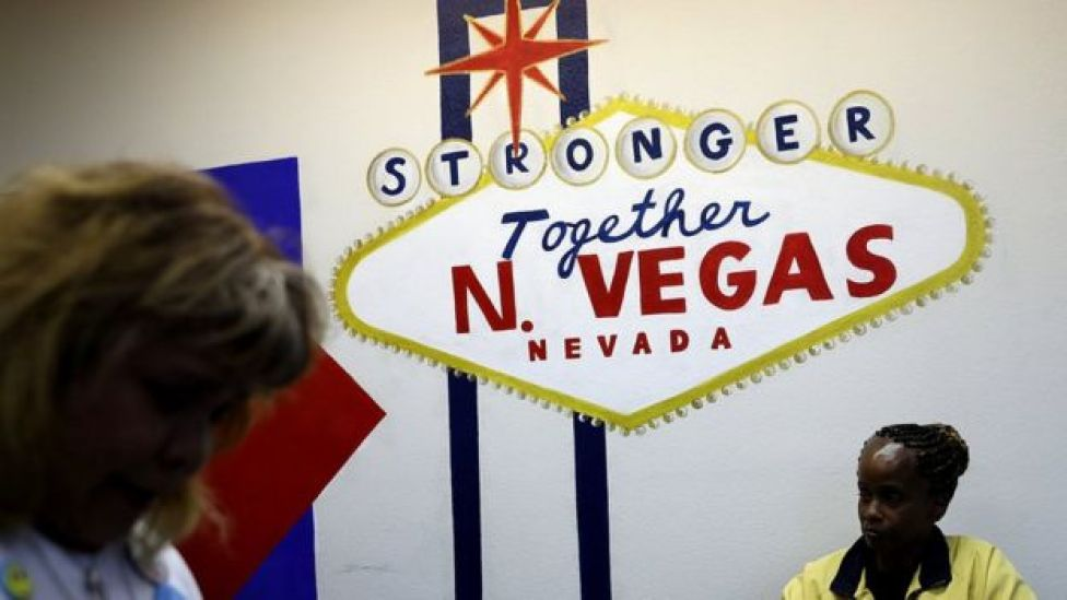 Democratic sign in Las Vegas