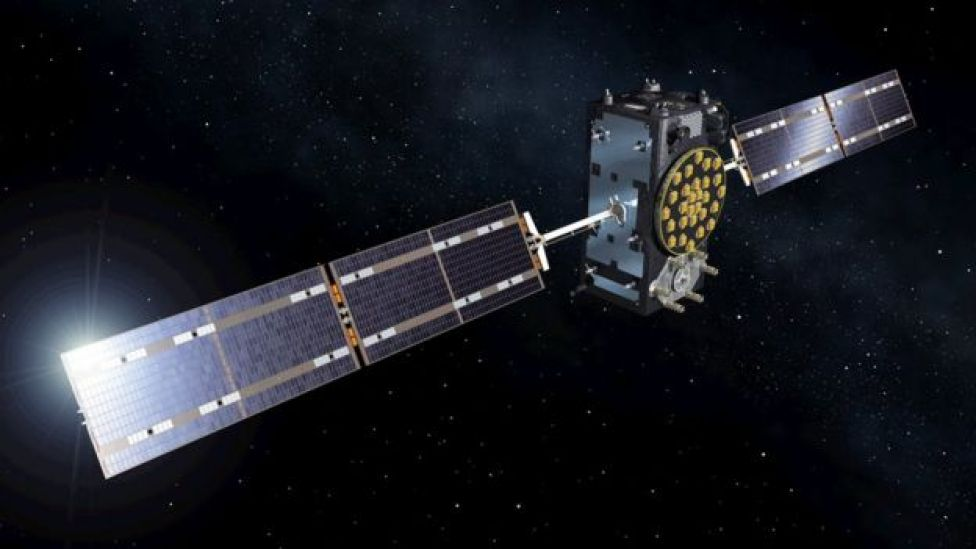 Artist's impression of an OHB-SSTL Galileo satellite in orbit